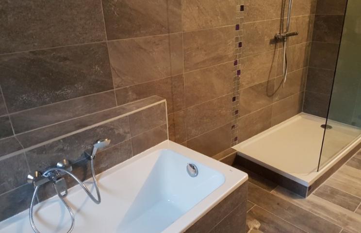 Pose et installation d'une douche
